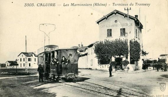 Farges_3503_-_CALUIRE_-_Les_Marronniers_-_Terminus_du_Tramway